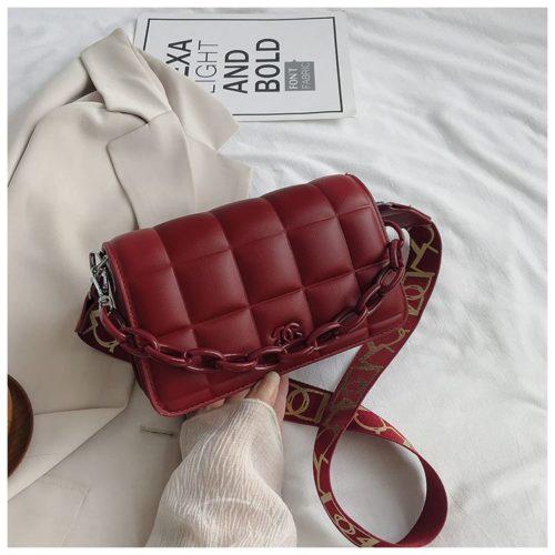 JT3136-red Tas Selempang Import Chain Elegan Terbaru