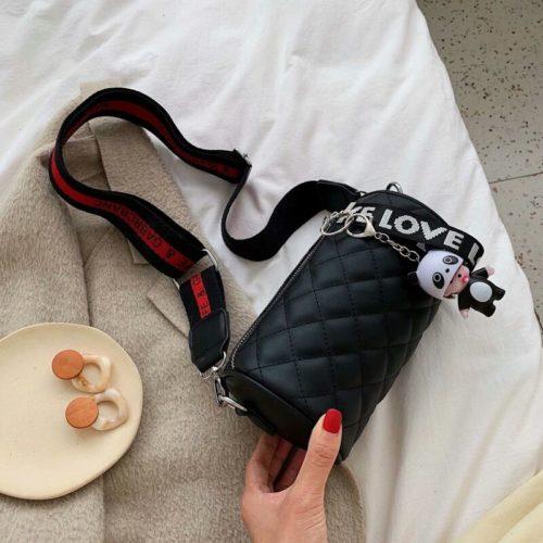 JT3144-black Tas Selempang Love Panda Import Wanita