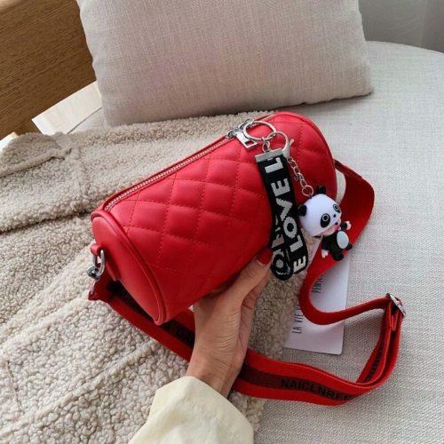 JT3144-red Tas Selempang Love Panda Import Wanita