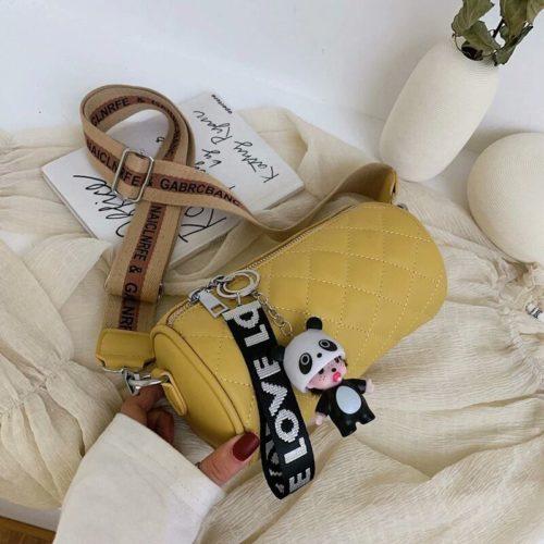 JT3144-yellow Tas Selempang Love Panda Import Wanita