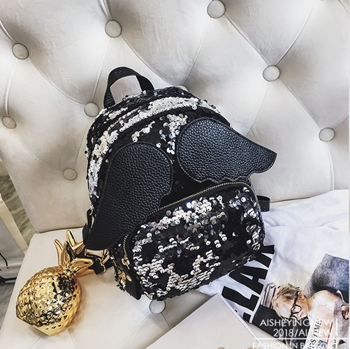 JT318 IDR.170.000 MATERIAL SEQUIN SIZE L21XH23XW11CM WEIGHT 400GR COLOR BLACK