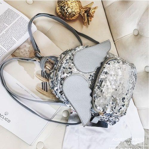 JT318-silver Tas Ransel SEQUIN Angel Fashion Import