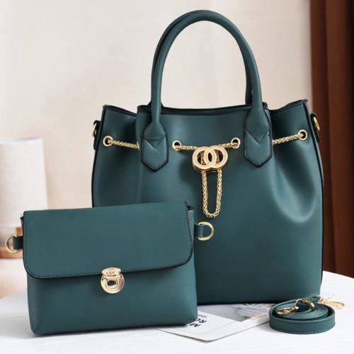 JT3186-green Tas Handbag Wanita 2in1 Import Terbaru