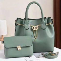 JT3186-lightgreen Tas Handbag Wanita 2in1 Import Terbaru