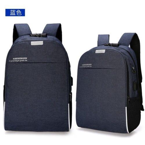 JT321-blue  Tas Ransel Laptop Keren Dengan Lock Number Terbaru