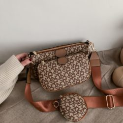 JT3343-brown Tas Selempang 3in1 Stylish Import Terbaru