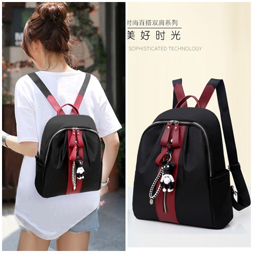 JT3363 IDR.138.000 MATERIAL NYLON SIZE L31XH31XW14CM WEIGHT 500GR COLOR BLACKRED