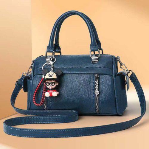 JT33902-blue Tas Selempang Wanita Cantik Elegan Gantungan Baby