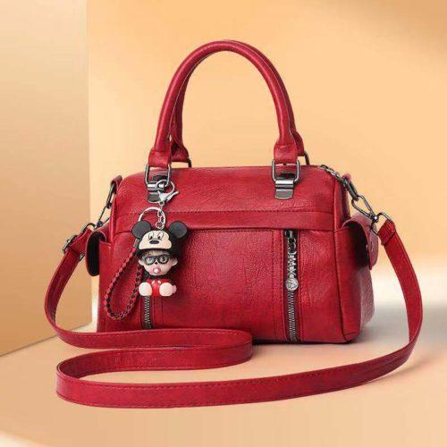 JT33902-red Tas Selempang Wanita Cantik Elegan Gantungan Baby