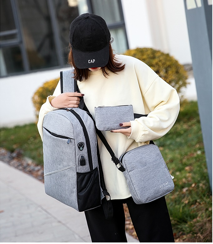 JT3397 (3IN1) IDR.152.000 MATERIAL NYLON SIZE L28XH45XW13CM WEIGHT 600GR COLOR GRAY (2)