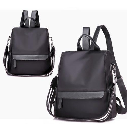 JT3434-black Tas Backpack Stylish Import Wanita Cantik