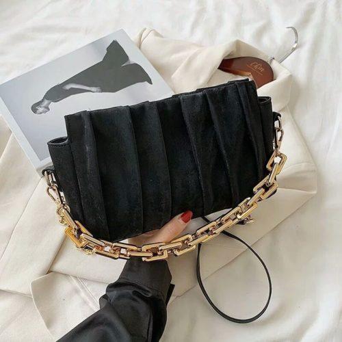 JT3446-black Tas Selempang Chain Modis Wanita Cantik Import