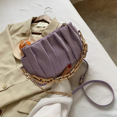 JT3446-purple Tas Selempang Chain Modis Wanita Cantik Import