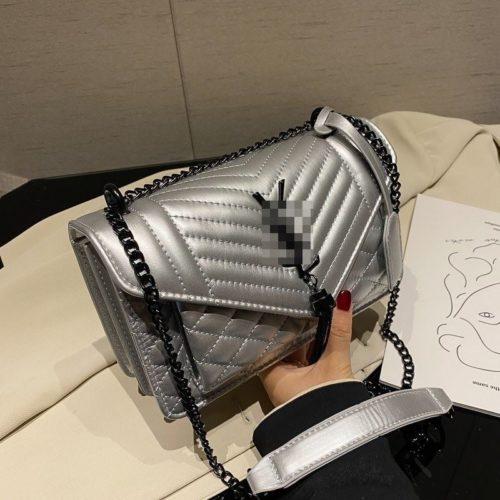 JT34461-silver Tas Selempang Import Wanita Cantik Terbaru