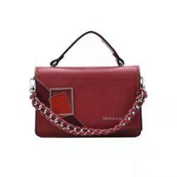 JT34462-red Tas Handbag Wanita Cantik Import Elegan