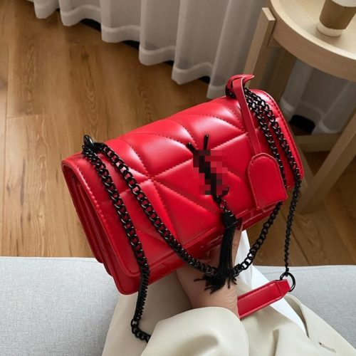 JT34463-red Tas Selempang Wanita Cantik Import Keren