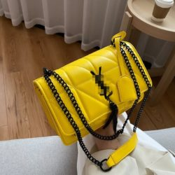 JT34463-yellow Tas Selempang Wanita Cantik Import Keren
