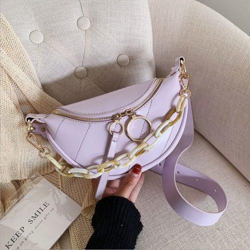 JT34510-purple Tas Sling Waist Bag Wanita Cantik Import