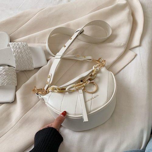 JT34510-white Tas Sling Waist Bag Wanita Cantik Import