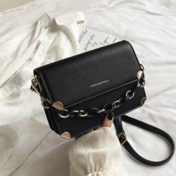 JT3742-black Tas Selempang Rantai Wanita Cantik Import
