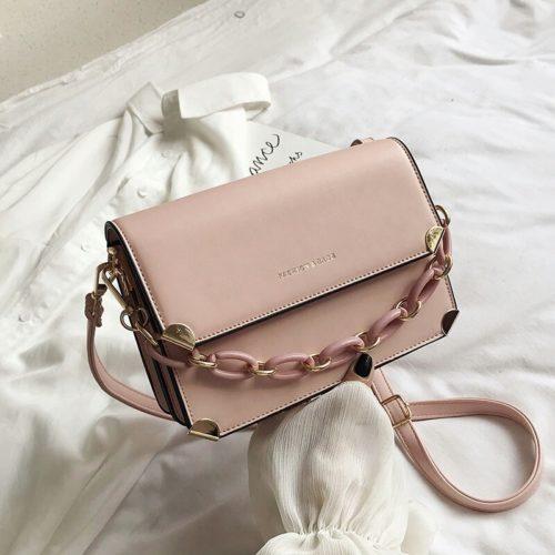 JT3742-pink Tas Selempang Rantai Wanita Cantik Import