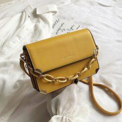JT3742-yellow Tas Selempang Rantai Wanita Cantik Import