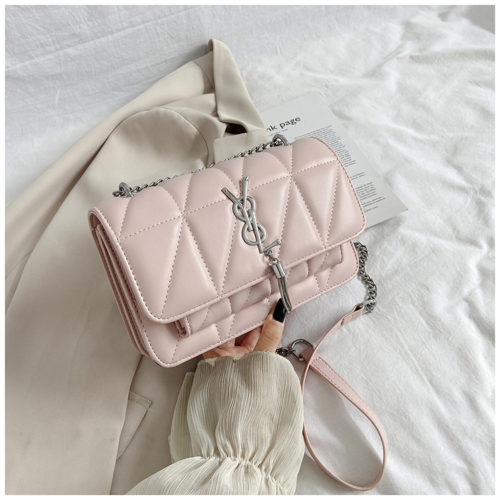 JT3750-pink Tas Selempang Cantik Wanita Elegan Import
