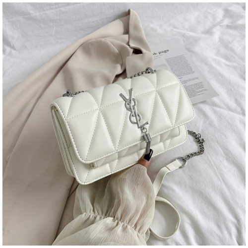 JT3750-white Tas Selempang Cantik Wanita Elegan Import
