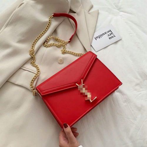 JT3751-red Tas Selempang Wanita Elegan Import Terbaru