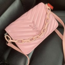 JT3770-pink Tas Selempang Rantai Modis Wanita Cantik