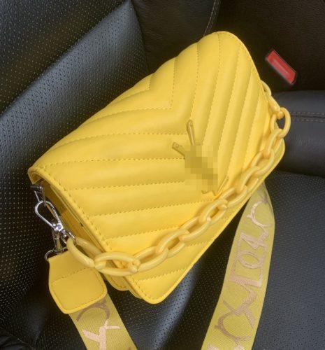 JT3770-yellow Tas Selempang Rantai Modis Wanita Cantik