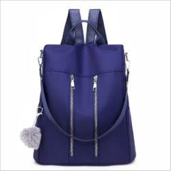 JT37700-blue Tas Ransel Stylish Wanita Kekinian Import