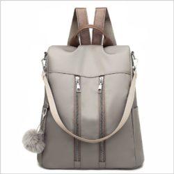 JT37700-gray Tas Ransel Stylish Wanita Kekinian Import