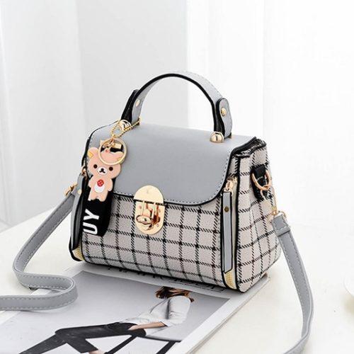 JT387-gray Tas Selempang Handbag Cantik Import
