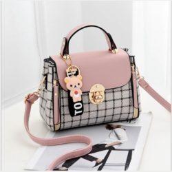 JT387-pink Tas Selempang Handbag Cantik Import