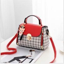 JT387-red Tas Selempang Handbag Cantik Import