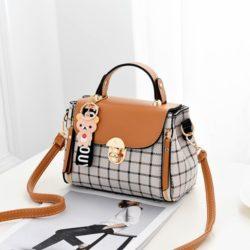 JT387-brown Tas Selempang Handbag Cantik Import