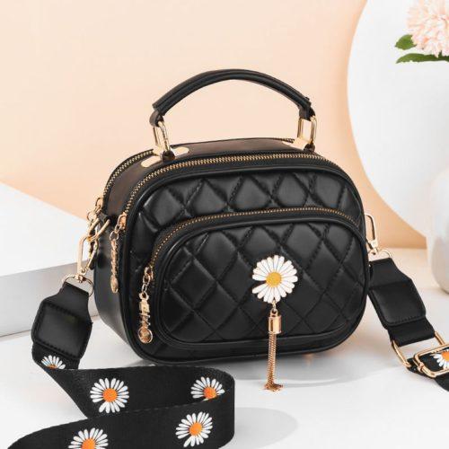 JT4003-black Tas Handbag Selempang Wanita Cantik Import