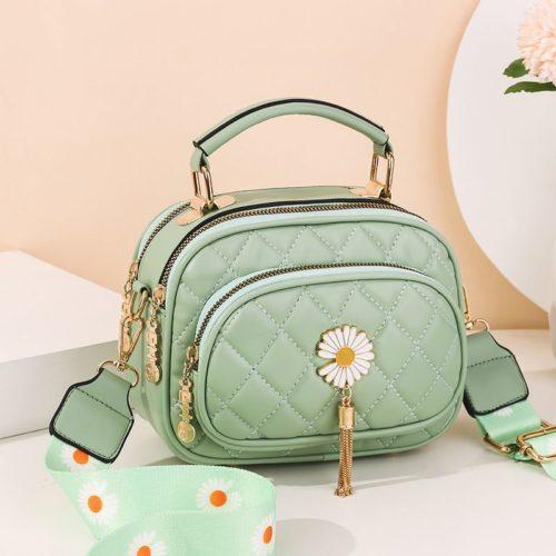 JT4003-green Tas Handbag Selempang Wanita Cantik Import