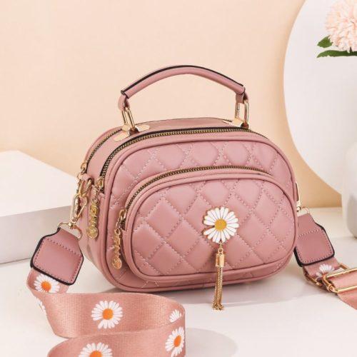 JT4003-pink Tas Handbag Selempang Wanita Cantik Import