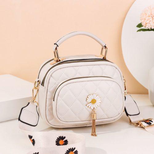 JT4003-white Tas Handbag Selempang Wanita Cantik Import