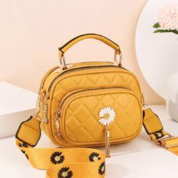 JT4003-yellow Tas Handbag Selempang Wanita Cantik Import