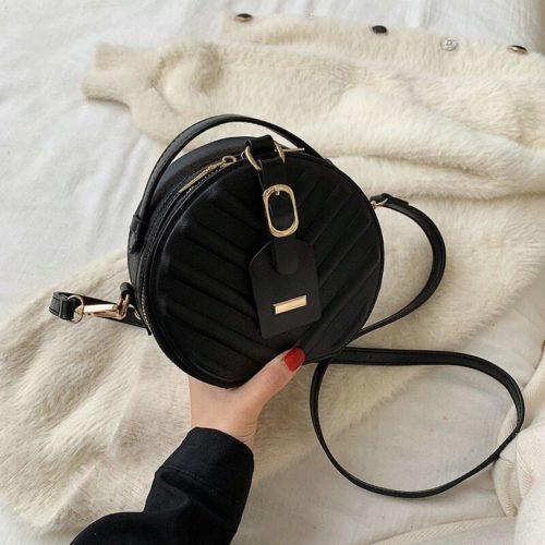 JT4049-black Tas Selempang Cantik Wanita Elegan Import