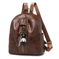 JT4215-brown Tas Ransel Fashion Wanita Terbaru Import