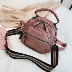JT42541-pink Tas Ransel Selempang Fashion Modis Wanita Cantik