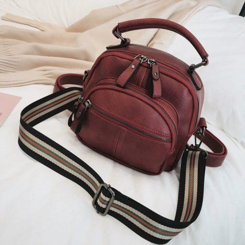 JT42541-red Tas Ransel Selempang Fashion Modis Wanita Cantik