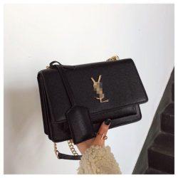 JT4452-black Tas Selempang Fashion Import Wanita Terbaru
