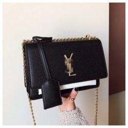 JT4452-blackwhite Tas Selempang Fashion Import Wanita Terbaru
