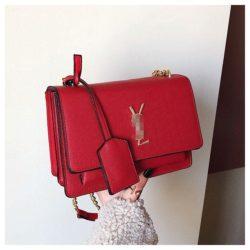 JT4452-red Tas Selempang Fashion Import Wanita Terbaru