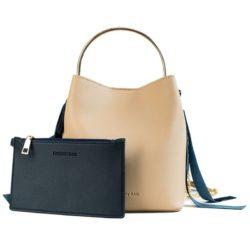 JT4508-khaki Tas Handbag Wanita Modis Kekinian 2in1 Import
